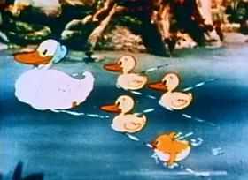 Screenshots from the 1936 Fleischer Studio cartoon The Little Stranger