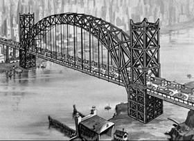 Screenshots from the 1936 Fleischer Studio cartoon Bridge Ahoy