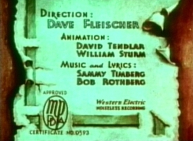Screenshots from the 1936 Fleischer Studio cartoon The Cobweb Hotel