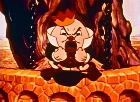 Screenshots from the 1936 Fleischer Studio cartoon Greedy Humpty Dumpty