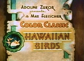 Screenshots from the 1936 Fleischer Studio cartoon Hawaiian Birds