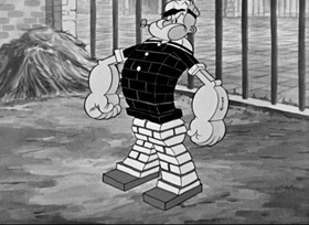 Screenshots from the 1936 Fleischer Studio cartoon Little Swee