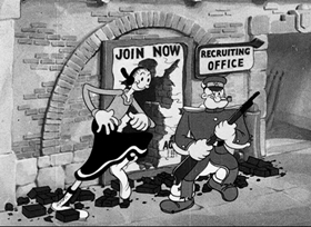 Screenshots from the 1936 Fleischer Studio cartoon I