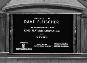 Screenshots from the 1936 Fleischer Studio cartoon I