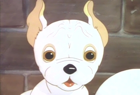 Screenshots from the 1936 MGM cartoon Two Little Pups