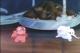Screenshots from the 1936 MGM cartoon Little Cheeser