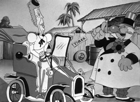 Screenshots from the 1937 Warner Bros. cartoon Porky