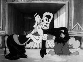 Screenshots from the 1937 Warner Brothers cartoon Picador Porky