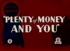 Screenshots from the 1937 Warner Brothers cartoon Plenty of Money and You