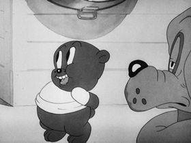 Screenshots from the 1937 Warner Brothers cartoon Rover