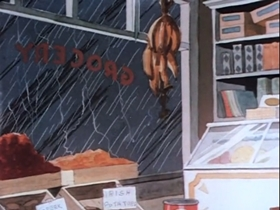 Screenshots from the 1937 Warner Brothers cartoon September in the Rain