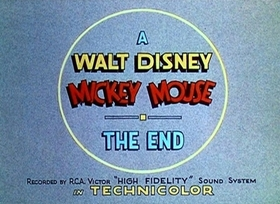 Screenshots from the 1937 Disney cartoon Magician Mickey