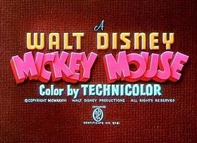 Screenshots from the 1937 Disney cartoon Moose Hunters