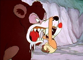 Screenshots from the 1937 Disney cartoon Little Hiawatha