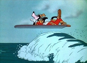 Screenshots from the 1937 Disney cartoon Hawaiian Holiday