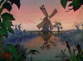 Screenshots from the 1937 Disney cartoon The Old Mill