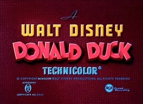 Screenshots from the 1937 Disney cartoon Donald