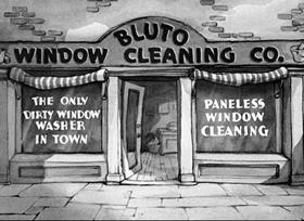 Screenshots from the 1937 Fleischer Studio cartoon The Paneless Window Washer
