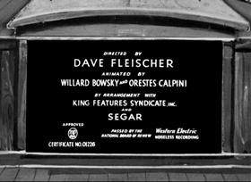 Screenshots from the 1937 Fleischer Studio cartoon Organ Grinder