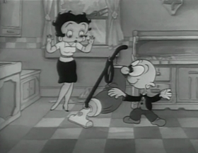 Screenshots from the 1937 Fleischer Studio cartoon The Hot Air Salesman