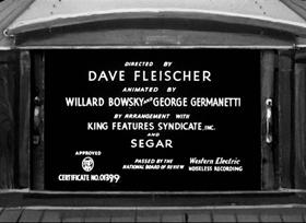 Screenshots from the 1937 Fleischer Studio cartoon Morning, Noon and Nightclub