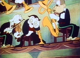 Screenshots from the 1937 Fleischer Studio cartoon A Car-Tune Portrait