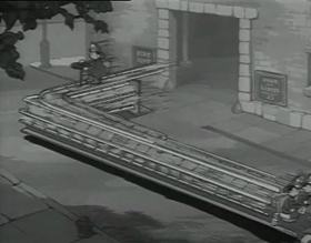 Screenshots from the 1937 Fleischer Studio cartoon Ding Dong Doggie