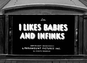 Screenshots from the 1937 Fleischer Studio cartoon I Like Babies and Infinks