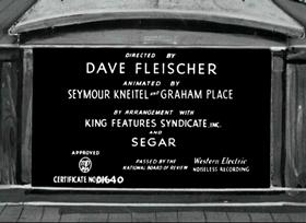 Screenshots from the 1937 Fleischer Studio cartoon The Football Toucher Downer