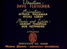 Screenshots from the 1937 Fleischer Studio cartoon Educated Fish