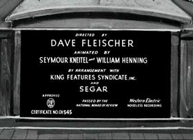 Screenshots from the 1937 Fleischer Studio cartoon Proteck the Weakerist