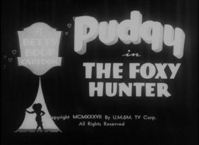 Screenshots from the 1937 Fleischer Studio cartoon The Foxy Hunter