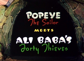 Screenshots from the 1937 Fleischer Studio cartoon Popeye the Sailor Meets Ali Baba