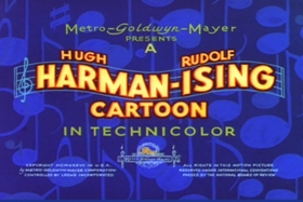 Screenshots from the 1937 MGM cartoon The Wayward Pups