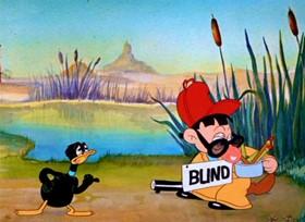 Screenshots from the 1938 Warner Bros. cartoon Daffy Duck and Egghead