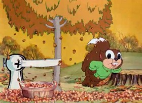 Screenshots from the 1938 Warner Brothers cartoon Now That Summer Is Gone
