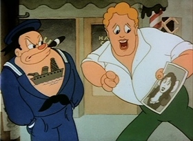 Screenshots from the 1938 Warner Brothers cartoon Love and Curses