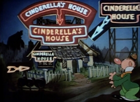Screenshots from the 1938 Warner Brothers cartoon Cinderella Meets Fella