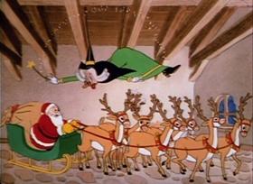 Screenshots from the 1938 Warner Bros. cartoon Cinderella Meets Fella