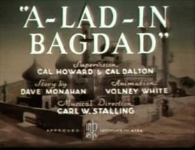 Screenshots from the 1938 Warner Brothers cartoon A-Lad-In Bagdad
