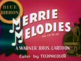 Screenshots from the 1938 Warner Brothers cartoon A Feud There Was