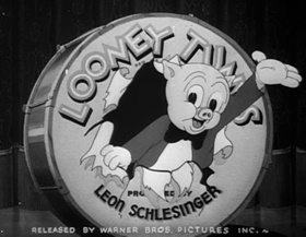 Screenshots from the 1938 Warner Brothers cartoon Porky