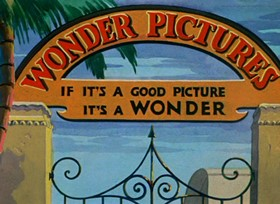 Screenshots from the 1938 Warner Brothers cartoon Daffy Duck in Hollywood