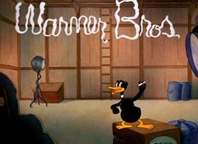 Screenshots from the 1938 Warner Bros. cartoon Daffy Duck in Hollywood