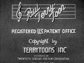 Screenshots from the 1938 Terrytoons cartoon His Off Day