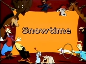Screenshots from the 1938 Columbia cartoon Snow Time