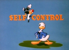 Screenshots from the 1938 Disney cartoon Self Control