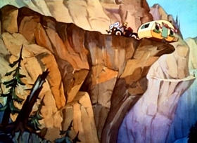 Screenshots from the 1938 Disney cartoon Mickey