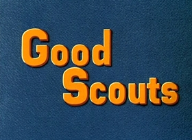 Screenshots from the 1938 Disney cartoon Good Scouts