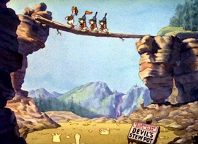 Screenshots from the 1938 Disney cartoon Good Scouts